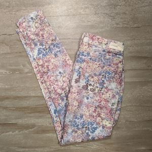 Levi's legging watercolor floral jeans